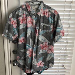 Other - Button down shirt flower print